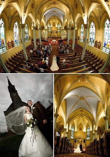 Wedding in a cool church