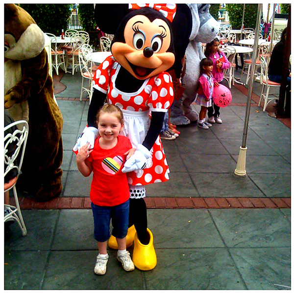 Jordyn and Minnie Mouse at Disney